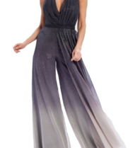 Forever Unique Eve jumpsuit wide pants with glitter gray