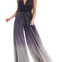 Forever Unique Eve jumpsuit wijde broek met glitter grijs