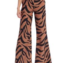Forever Unique Forever Unique Zalia flared trousers with zebra print multicolor