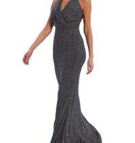 Forever Unique Forever Unique  Sheeva maxi jurk zwart zilver