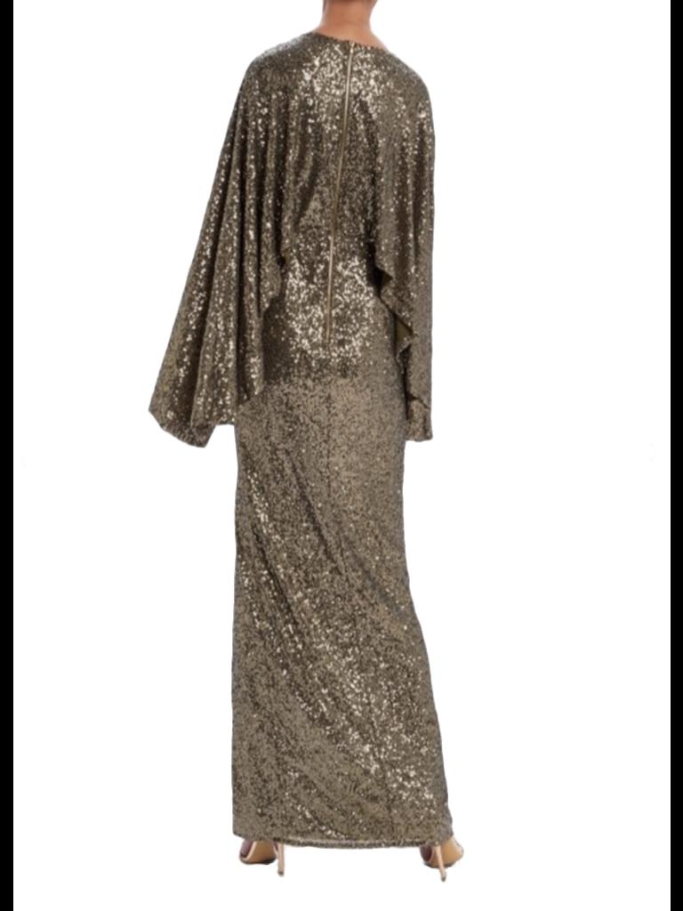 Forever Unique Rio maxi jurk met sequins khaki
