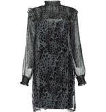 Freebird Freebird Bella jurk met luipaard print grijs