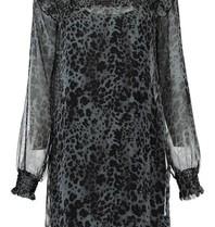 Freebird Freebird Bella dress with leopard print gray