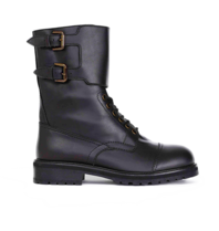 Semicouture Hank combat boots with buckles black