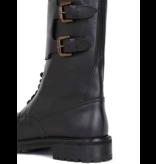 Semicouture Hank combat boots met gespen zwart