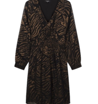 Alix the Label Tiger Kleid schwarz