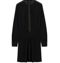 Alix the Label Kleid mit Lurex Details schwarz
