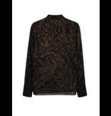 Alix the Label Tiger blouse zwart
