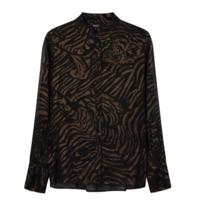 Alix The Label Alix the Label Tiger blouse zwart