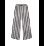 Alix the Label wijd uitlopende pantalon met lurex strepen grijs