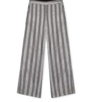 Alix the Label weit ausgestellte Hose mit grauen Lurexstreifen