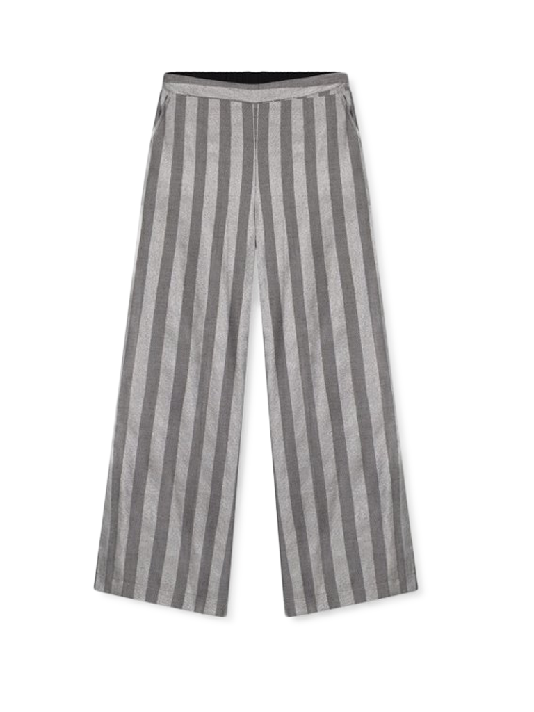 Alix The Label Alix the Label wide flared trousers with gray lurex stripes