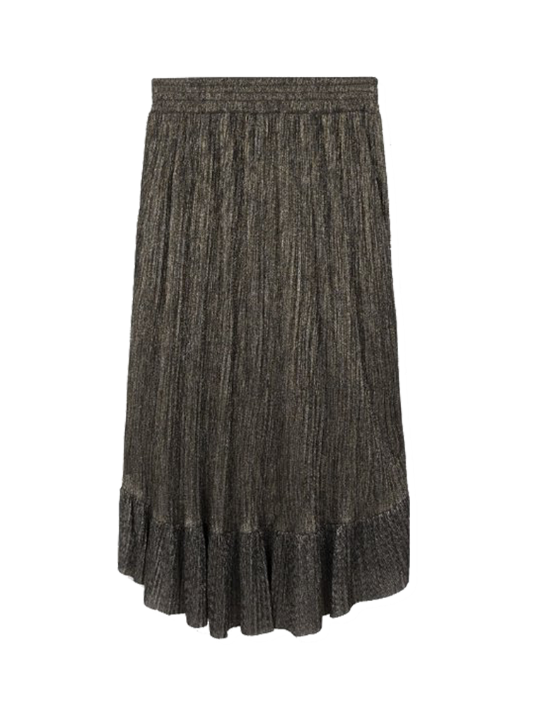 Alix The Label Alix the Label midi mesh skirt with lurex details and ruffles of silver