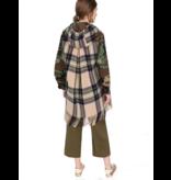 Semicouture camouflage jas met ruitenprint multicolor