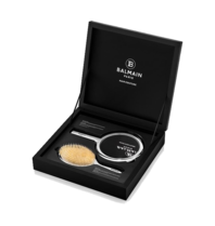 Balmain limited edition spa brush and hand mirror set silver