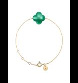Morganne Bello Morganne Bello gold bracelet with agate stone green