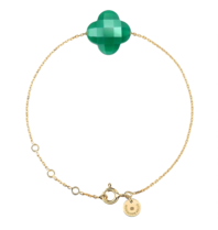 Morganne Bello gold bracelet with agate stone green