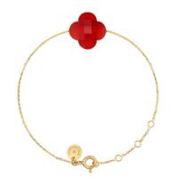 Morganne Bello gouden armband met Cornaline steen rood