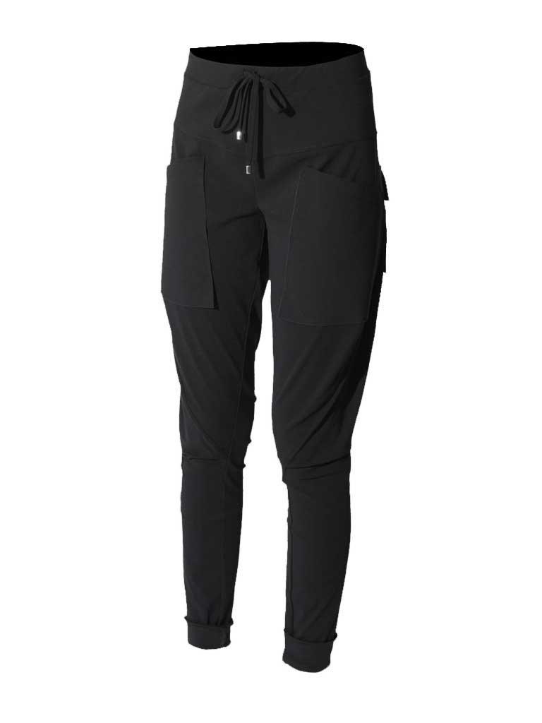 Marithé François Girbaud Sportchaps broek met zakken zwart