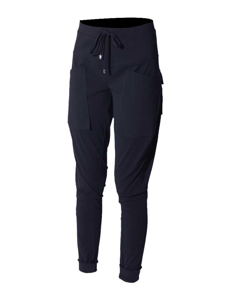 Marithé François Girbaud Sportchaps broek met zakken blauw