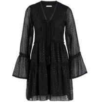 Freebird Freebird Vlada jurk met details zwart