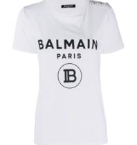 Balmain Balmain T-shirt with velvet logo white