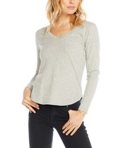 Chaser Chaser top with short sleeves and pocket gray