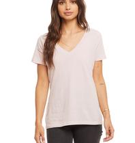 Chaser T-Shirt mit kurzen Ärmeln und V-Ausschnitt in Pink