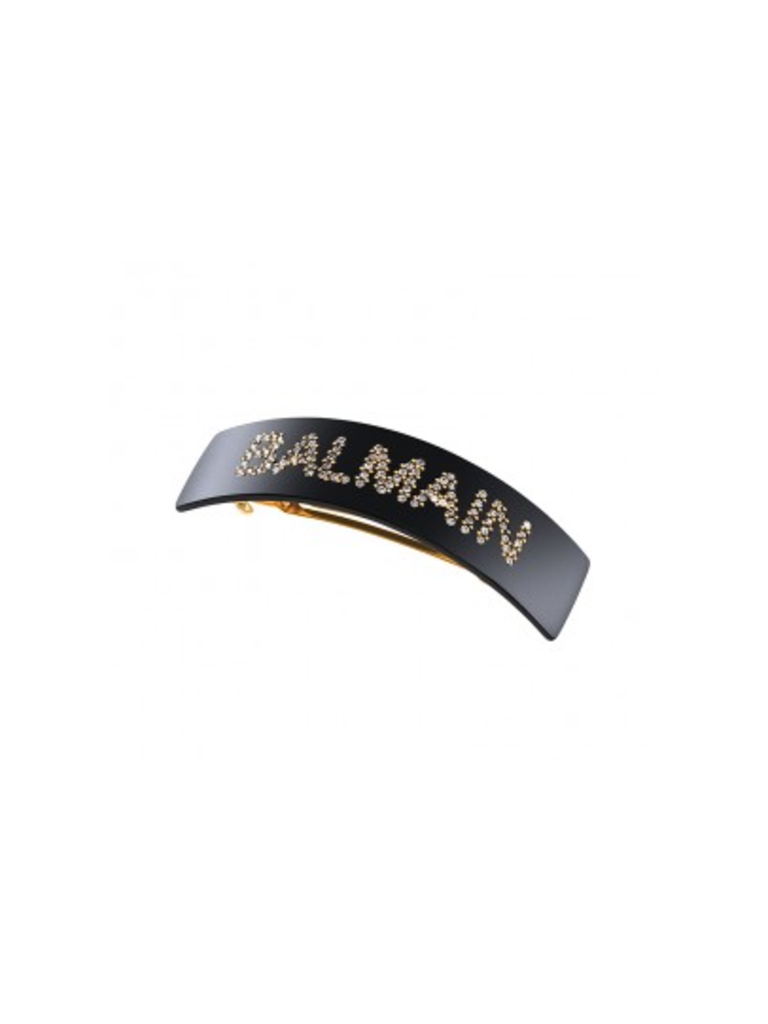 Balmain Hair Couture Balmain Hair Couture Haarspange mit Logo schwarz
