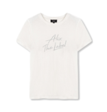 Alix The Label Embroidered T-shirt met logo wit