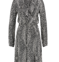 Freebird Freebird Gianna leopard mini jurk met ruffles zwart