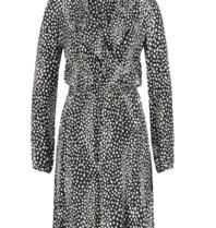 Freebird Gianna Leopard Minikleid mit Rüschen schwarz