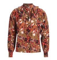Britt Sisseck Sarah blouse met ruffles en strik multicolor