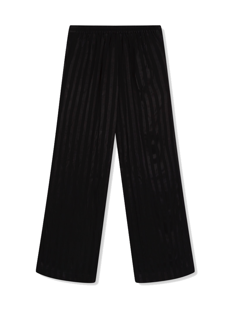 Alix the Label losvallend pantalon met streep details zwart