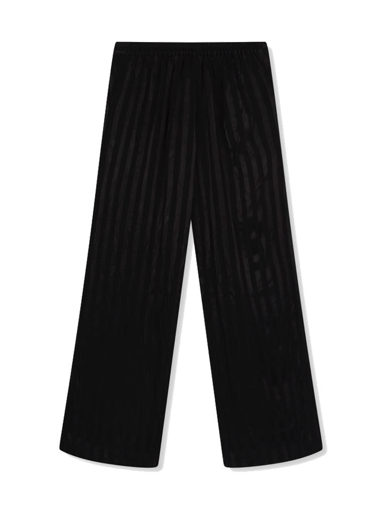 Alix the Label Weite Hose mit Streifendetails in Schwarz