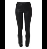Articles of Society Sarah Naches skinny jeans met coating en zilveren details zwart