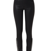 Articles of Society Sarah Naches skinny jeans with coating and silver details black