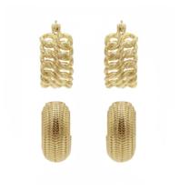8 Other Reasons x Jill Jacobs 'Double' earrings gold