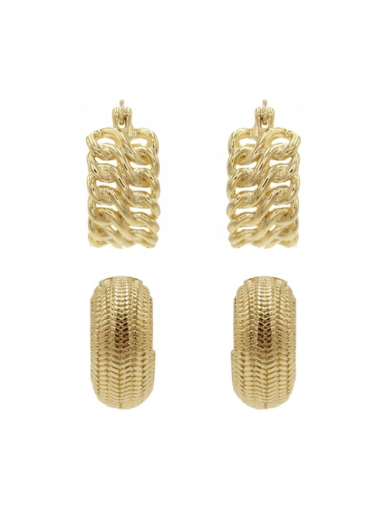 8 Other Reasons x Jill Jacobs 'Double' earrings gold