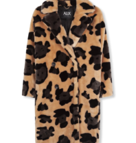 Alix The Label Alix The Label Animal faux fur jas met print multicolor