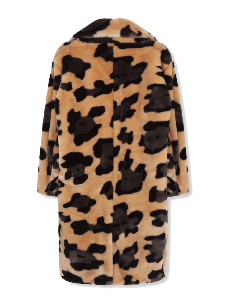 Alix The Label Alix The Label Animal faux fur jacket with multicolored print