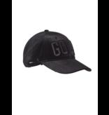 Goldbergh Mitra pet met logo zwart