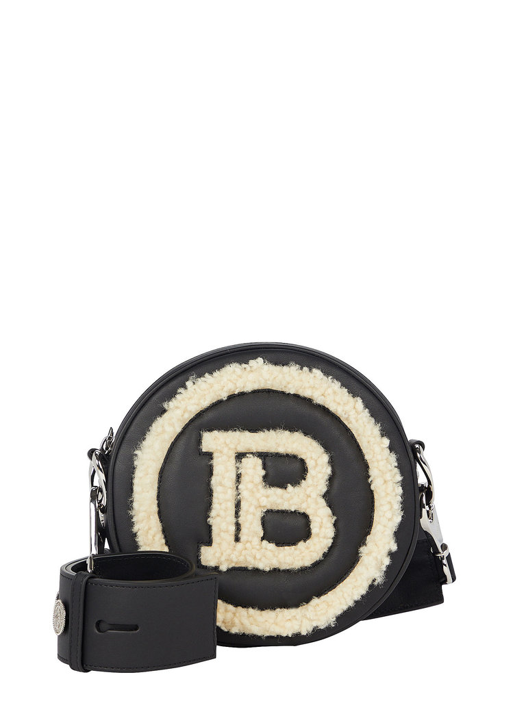 Balmain Balmain sheerling mini logo crossbody bag black