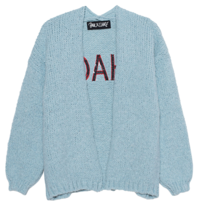 Paul x Claire knitted cardigan with blue on the back