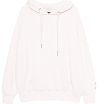 Paul x Claire oversized hoodie with text white