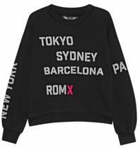 Paul x Claire sweater met tekst zwart
