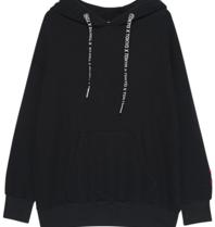 Paul x  Claire oversized hoodie met tekst zwart