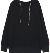Paul x Claire oversized hoodie with text black