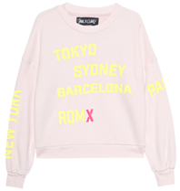 Paul x Clair sweater with text nude