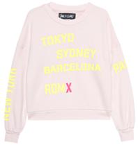 Paul x Claire sweater met tekst nude